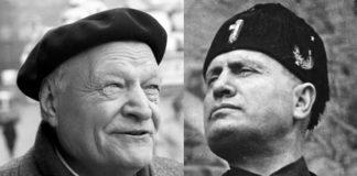 Il poeta Ungaretti con Mussolini