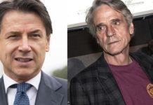 Giuseppe Conte e l'attore Jeremy Irons