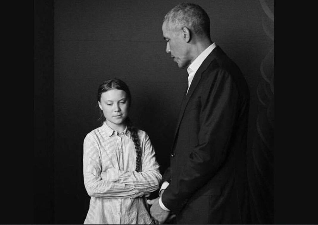 obama con greta