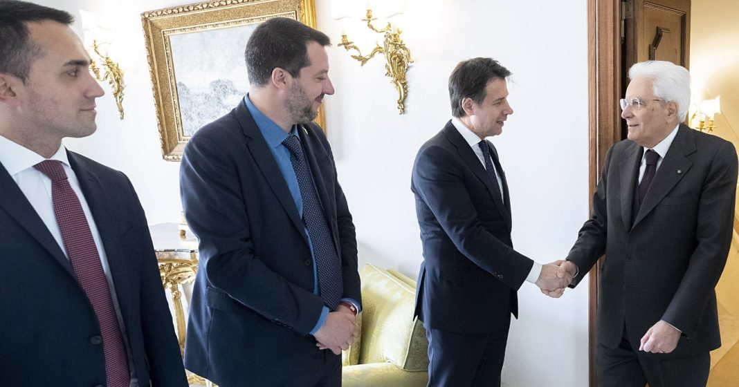 Di Maio, Salvini, Conte e Mattarella
