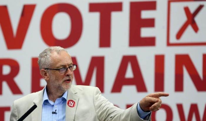 Jeremy Corbyn manifestazione anti Brexit