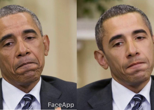 FaceApp modifica del volto di Obama