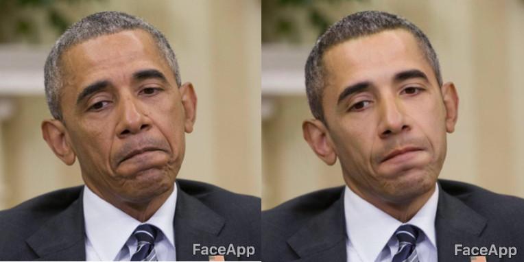 FaceApp modifica del volto di Obama