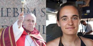 Papa e Carola Rackete