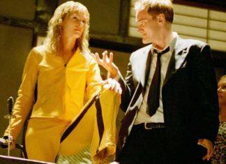 Quentin Tarantino Uma Thurman sul set di Kill Bill