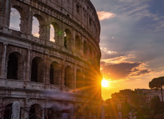 colosseo, sole