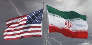 iran usa, bandiere