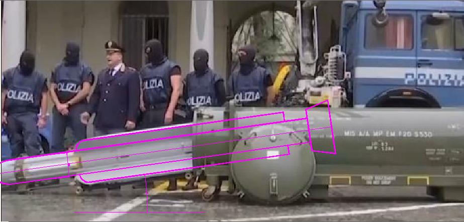missile sequestrato