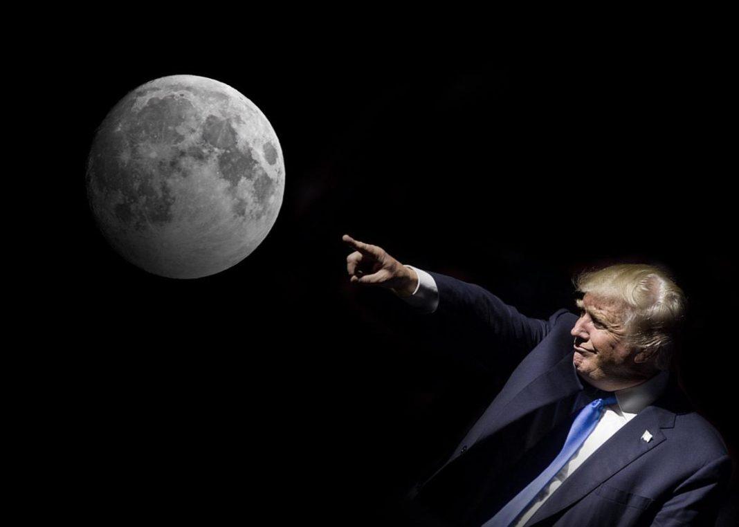 trump indica la luna