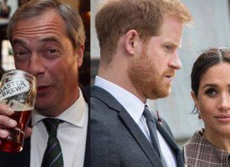Nigel Farage, Principe Harry e Meghan Markle