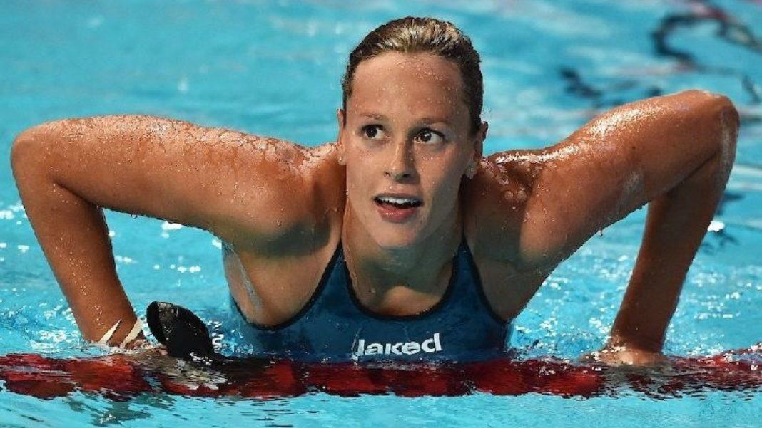 La campionessa di nuoto Federica Pellegrini