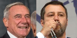 Pietro Grasso e Matteo Salvini