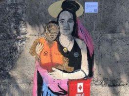 Murale su Carola a Taormina