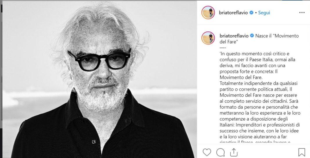 Flavio Briatore, il suo post su Instagram