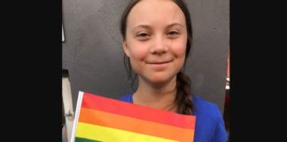 greta thunberg, bandiera gay