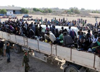 immigrati in camion, libia