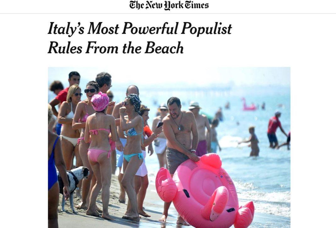 new york times, salvini