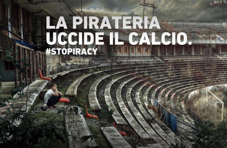 la campagna contro la pirateria della Serie A