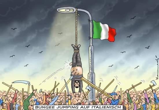 Matteo Salvini nella vignetta di Der Spiegel