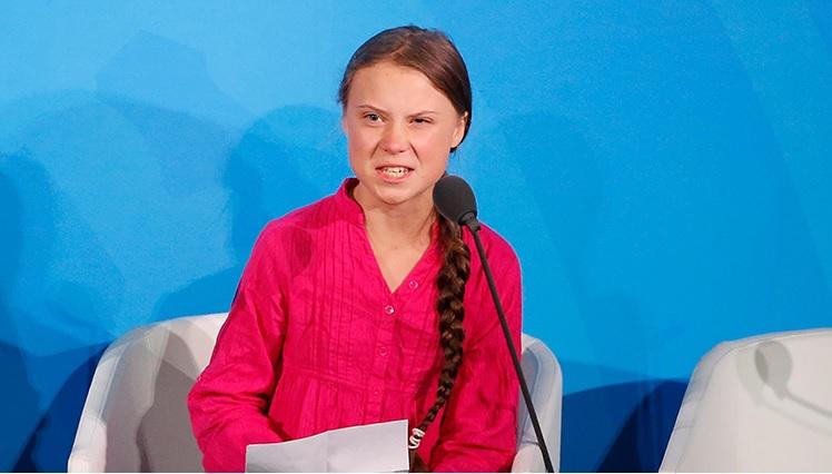Greta Thunberg all'Onu