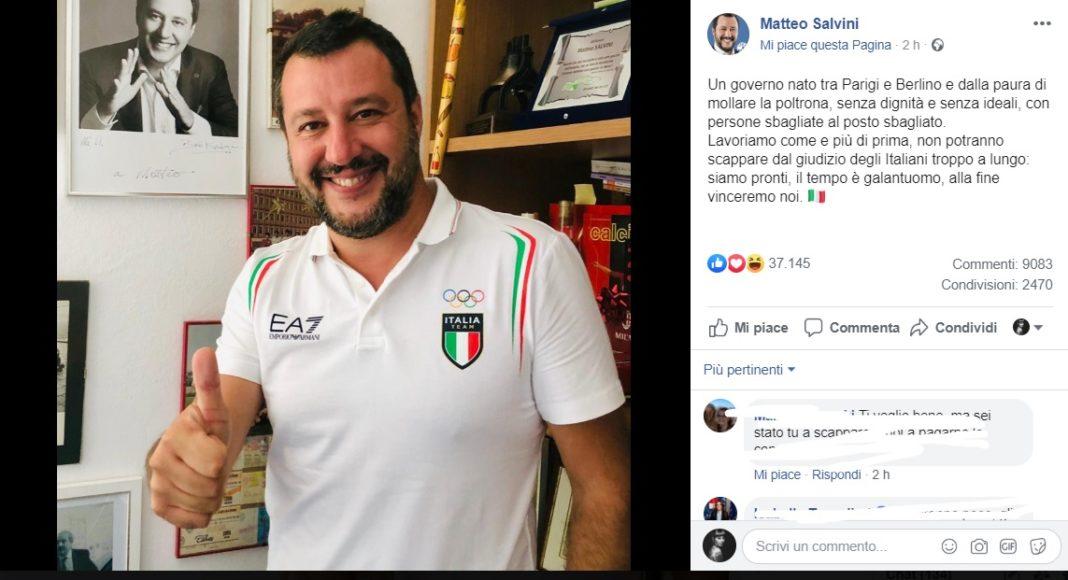 Matteo Salvini su Facebook