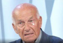 Fausto Bertinotti ospite a Tagadà, la7