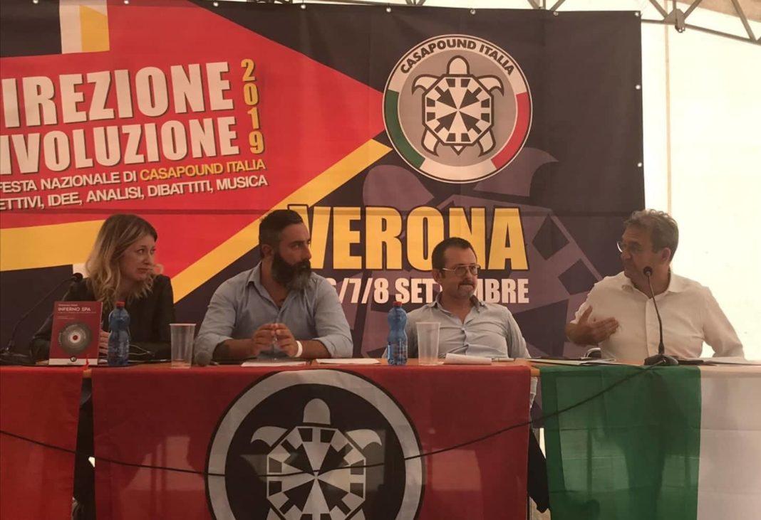 Senatori Delmastro e Beltraco, Francesca Totolo e Davide Di Stefano Direzione Rivoluzione 2019