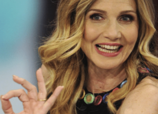 lorella cuccarini, conduttrice tv