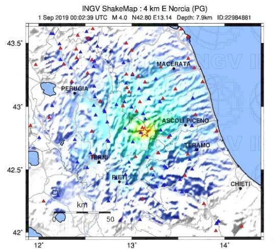 terremoto norcia ingv
