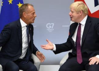 Donald Tusk e Boris Johnson