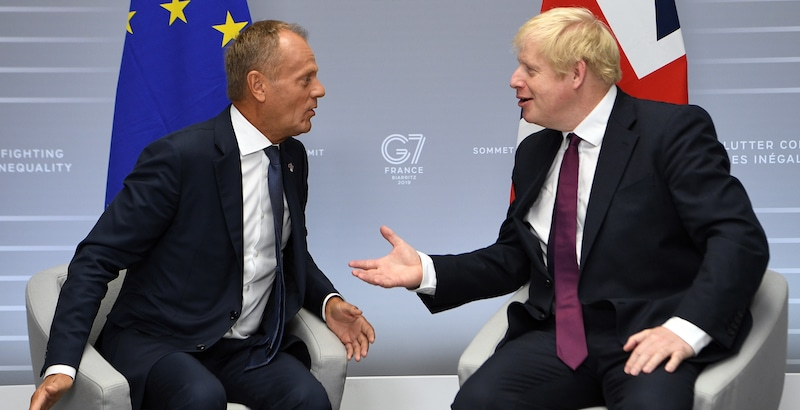 Donald Tusk e Boris Johnson