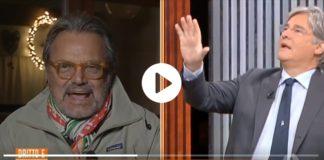 Paolo Del Debbio e Oliviero Toscani