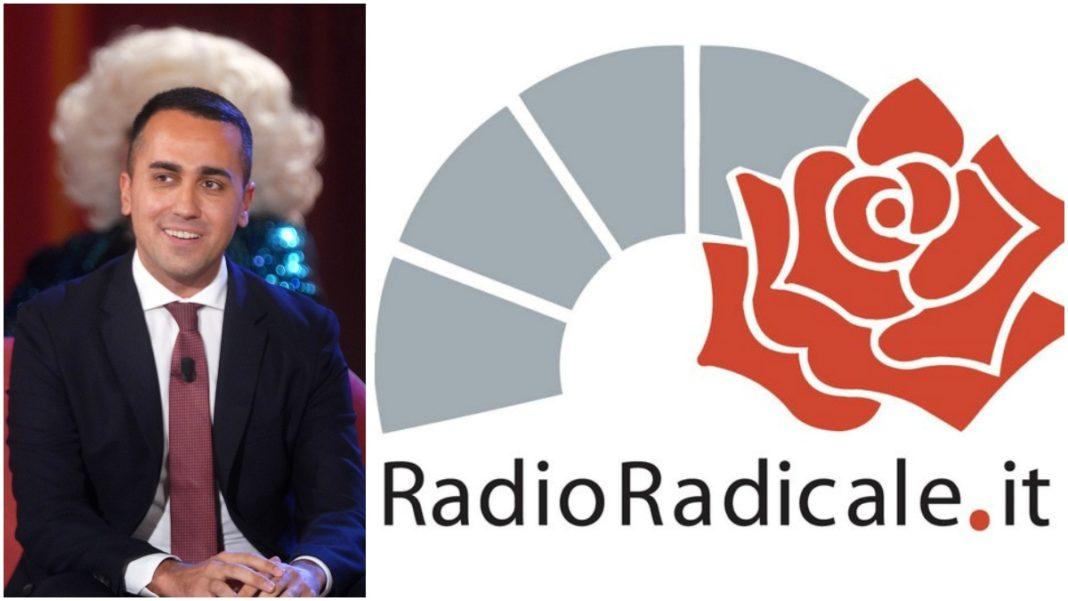 Di Maio e logo di Radio Radicale