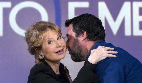 Lilli Gruber e Matteo salvini
