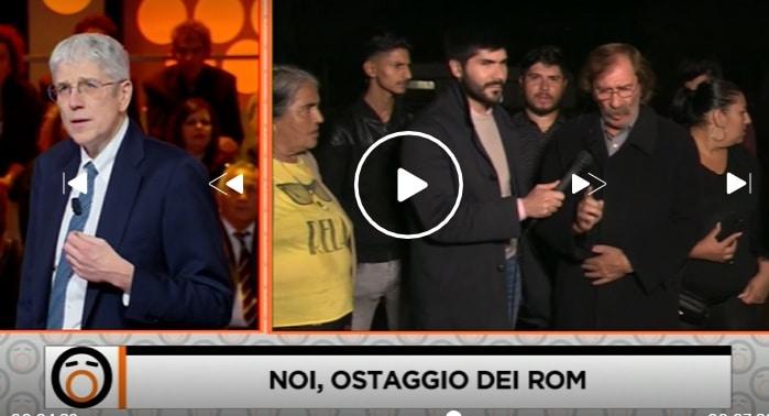 I rom di Castel Romano e Mario Giordano