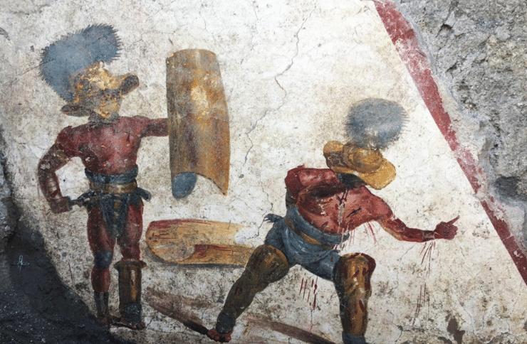 ffresco gladiatori di pompei