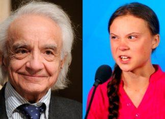 Antonino Zichichi e Greta Thunberg