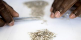 diamanti, angola
