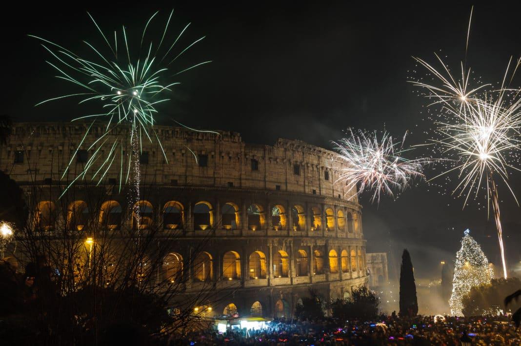 Fuochi d'artificio per capodanno a Roma