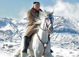 kim jong un a cavallo