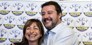 Matteo Salvini e la presidente della Regione Umbria Tesei