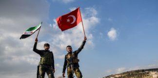 ribelli siriani, bandiera turca