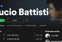 Battisti su Spotify