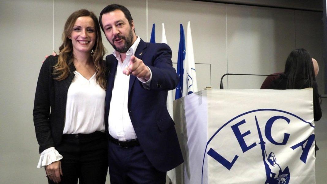 Salvini e Borgonzoni, candidata in Emilia Romagna