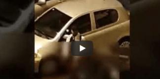 africano si masturba addosso alla macchina