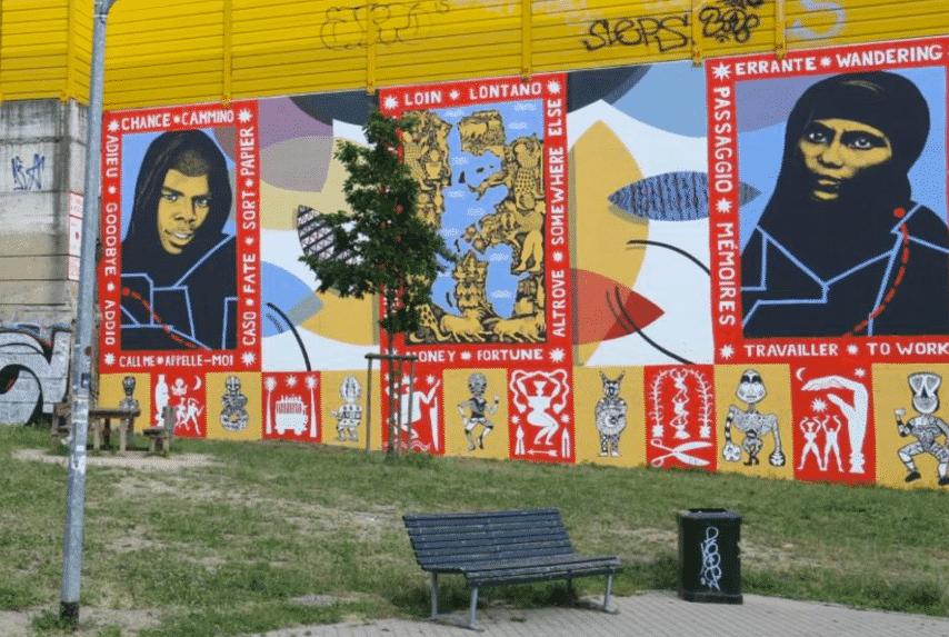Milano Sala murales pro immigrati