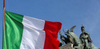 bandiera italia, asta