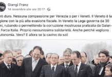 professore insulta venezia
