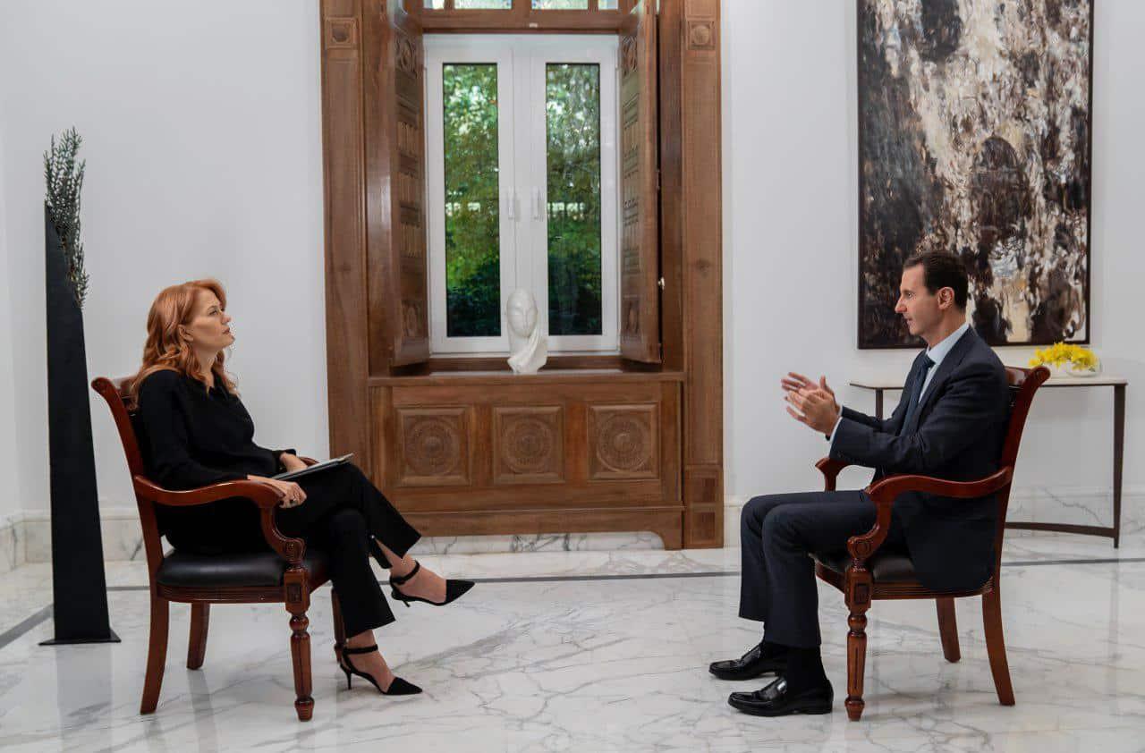 Monica Maggioni con Bashar Assad