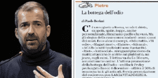 Berizzi e screenshot dell'articolo